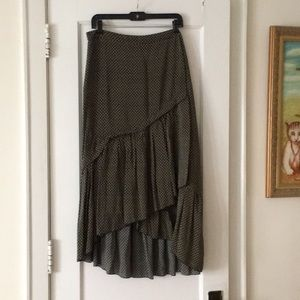 Geometric wrap ruffle skirt